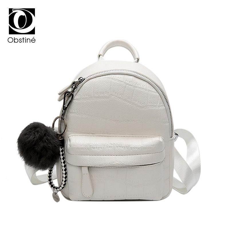 Mini Backpacks For Women PU Leather Cute Daypack Small Backpack Female  White Bagpack Woman Fashion Black Back Pack Bag For Girls Y18110201 Dog  Backpack ... 236d7f2cd32b8