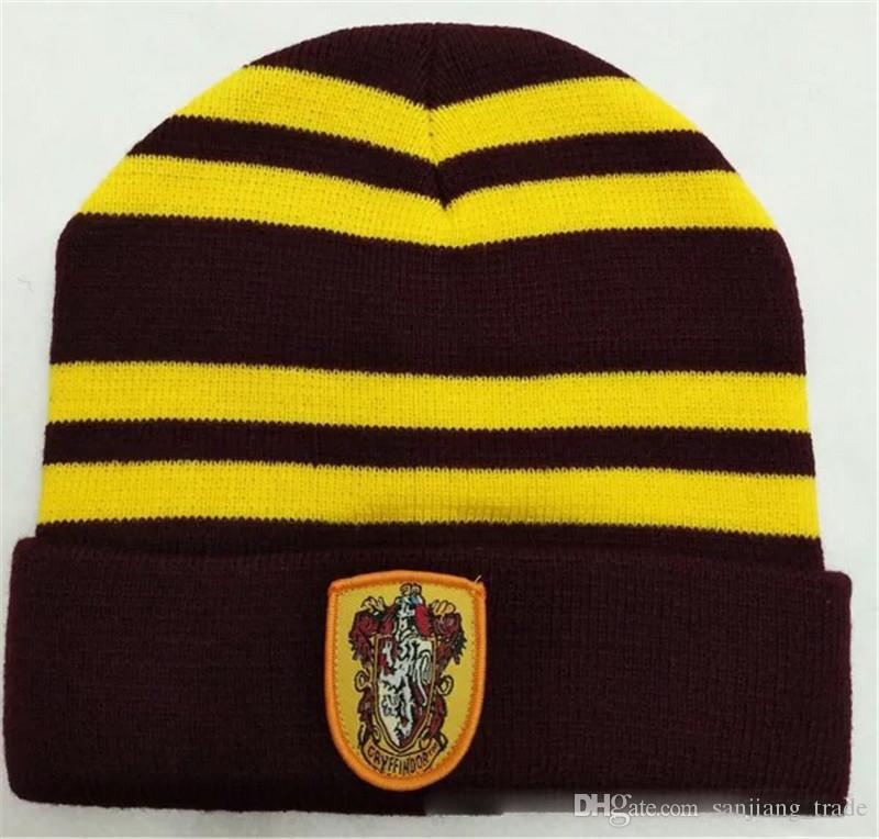 6e359ac9 2019 NEW WOMEN Men Harry Potter College Beanie Winter Knit Hat Ravenclaw  Gryffindor Slytherin Hufflepuff Skull Caps Cosplay Hats Striped Beanies  From ...
