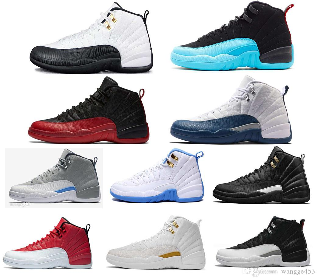 5a2a09406953 2019 Men Basketball Shoes 12 12s Black White Master GS Barons Wolf Grey Flu  Game Taxi Playoffs French Blue Gym Red Sneakers Basketball Shoes Basketball  ...