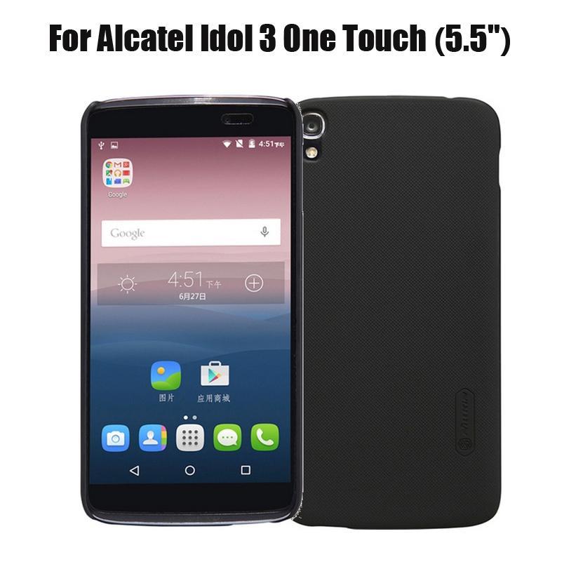 bae50bc8634 Fundas Universales Para Moviles Para Alcatel Idol 3 One Touch 5.5inch Funda  Nillkin Hard Plastic Funda De Tapa Mate Para Alcatel Idol 3 5.5 Protector De  ...