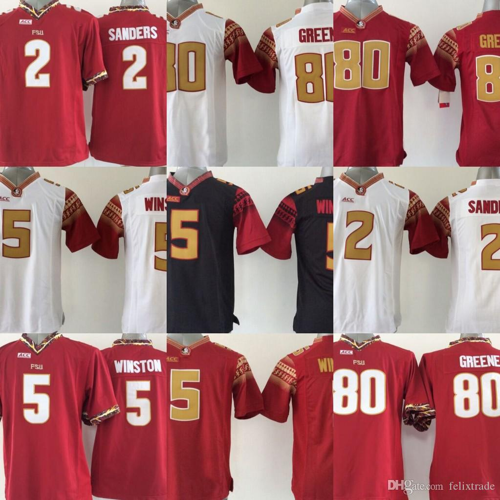 official photos eb34c 51437 Youth Florida State Seminoles Jerseys 2 Deion Sanders 5 Jameis Winston 80  GREENE Kids Boys College Football Jersey