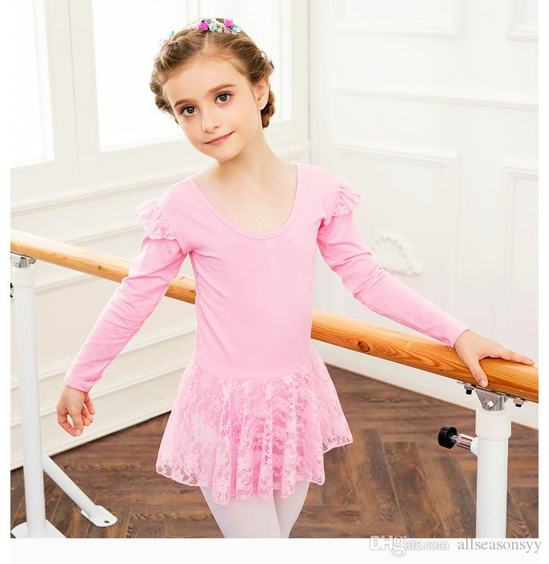 420acb7d3c1c 2019 Children S Dance Clothing Girls Long Sleeved Autumn And Winter ...
