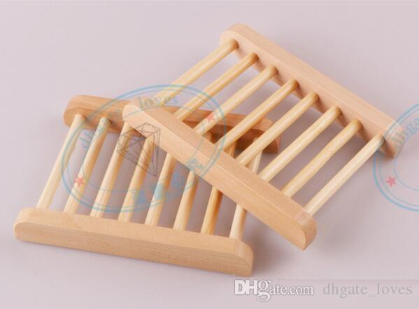 Natural Bamboo Wooden Soap Dish Wooden Soap Tray Holder Storage Soap Rack Plate Box Container for Bath Shower Bathroom GBN-046