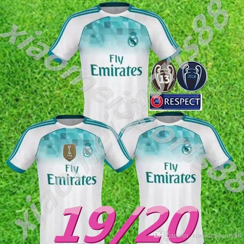 Compre 2019 2020 Novo Real Madrid   10 MODRIC Marcelo Kroos 19 20 Camisa De  Futebol BALE ASENSIO ISCO RAMOS Casa De Liga De Campeões Terceiro Jogo De  Camisa ... d5a029e1e2182