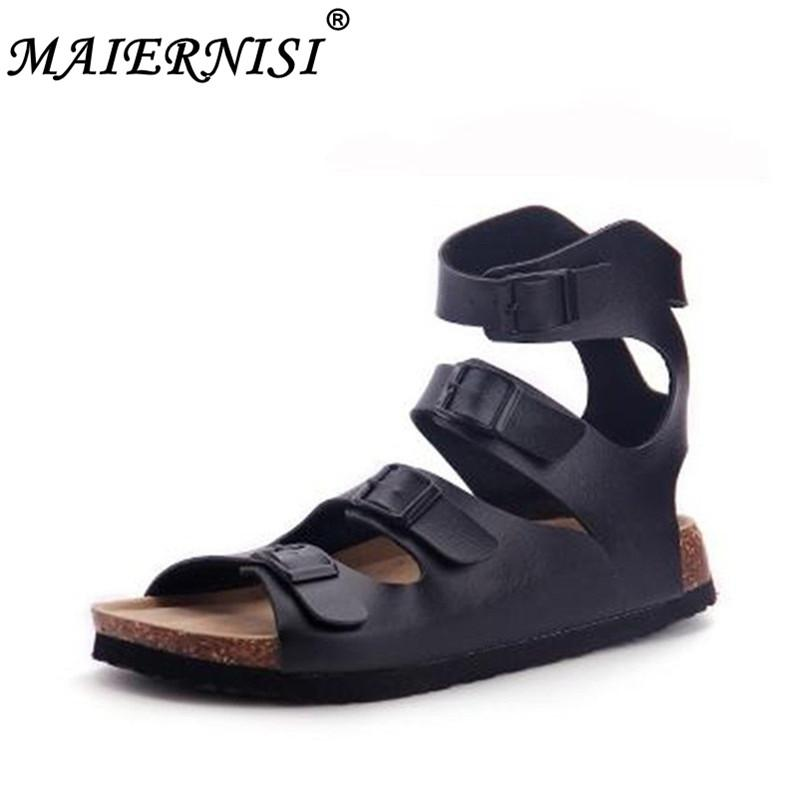 199d2ccea New 2019 Hot Sell Summer Style Shoes Men Sandals Cork Sandal Good Quality  Slip On Casual Slippers Classics Wedge Buckle Shoes Cheap Shoes For Women  Buy ...