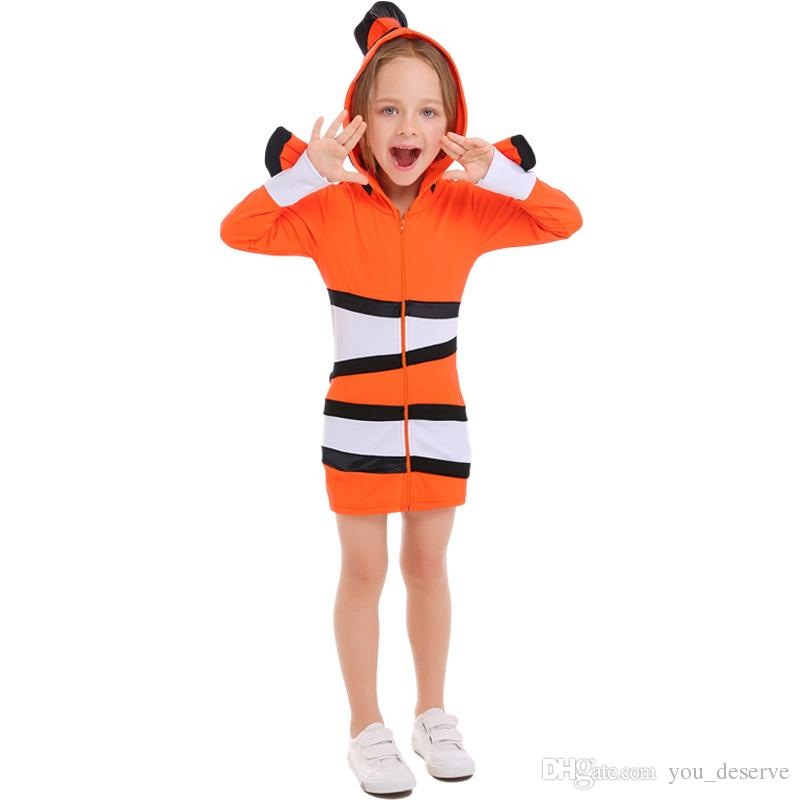 2018 New Kids Clownfish Parent Child Costumes Orange Hooded Dress Cosplay Halloween Ocean Themed Party Dresses Hot Selling Unique Halloween Costume Costumes ...  sc 1 st  DHgate.com & 2018 New Kids Clownfish Parent Child Costumes Orange Hooded Dress ...