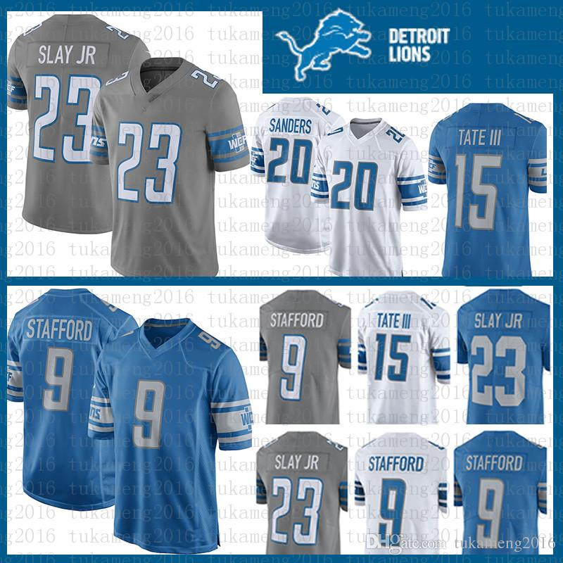 a6820c1f Best quality 9 Matthew Stafford 23 Darius Slay JR Detroit Lions Jersey 20  Barry Sanders 15 Golden Tate III Football Jerseys Stitched Embroid