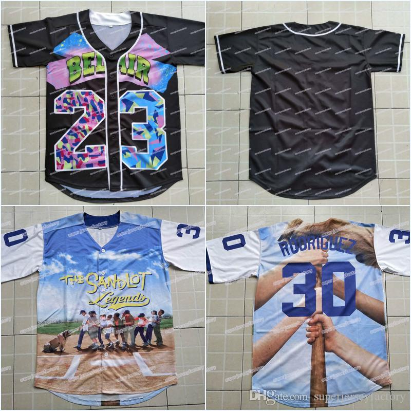 8f84e7f30 3D Printed Jersey Benny  The Jet  Rodriguez 30 The Sandlot Legends ...