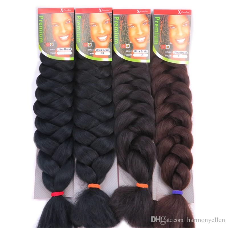 X,pression Ultra Braids Hair Extensions 82 Inch 165G Synthetic Hair  Extension Jumbo Braid X,pression Hair Multicolor