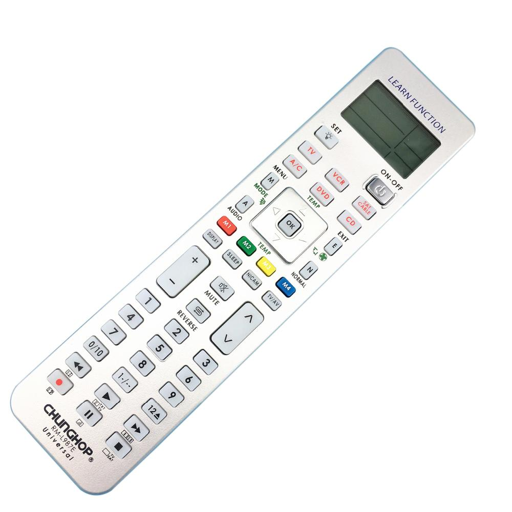 Chunghop rm l987e tvsatdvdcblcdacvcr smart tv 3d universal chunghop rm l987e tvsatdvdcblcdacvcr smart tv 3d universal remote control learning equipment with lcd display ir remote one for all remote from publicscrutiny Gallery