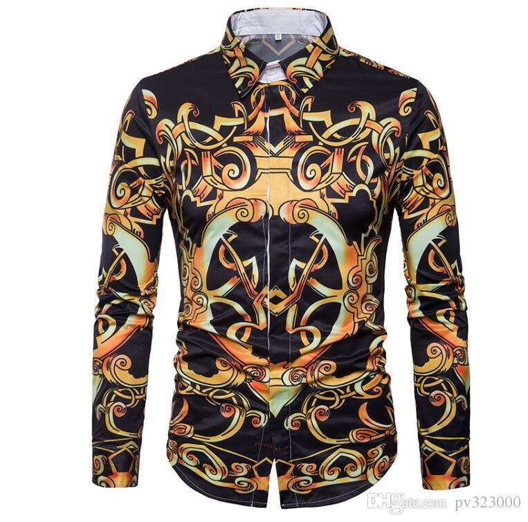 7f8fef3a514 Factory Sale High Quality 2018 Autumn Plus Size Long Sleeve Striped Men  Dress Shirts 5xl Fashion Regular Fit Male Tops Men T-shirt Men Shirt Polo  Online ...