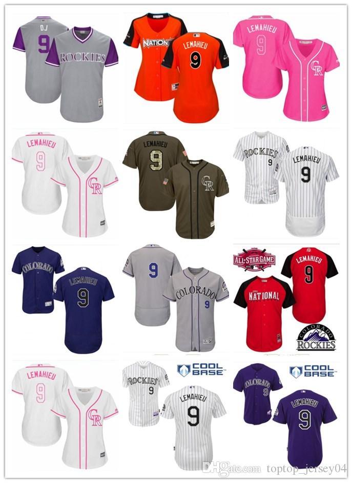 de4505ab3d5 ... womens stitched baseball jersey 8b2e4 1529e  best price 2018 2018 top  can custom colorado rockies 9 dj lemahieu menwomenyouth mens style baseball