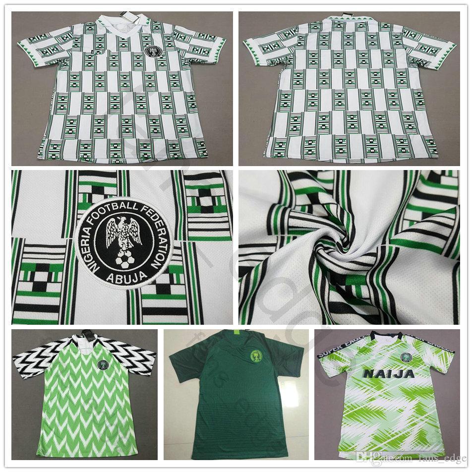 e2c0e9d0df9 2019 1994 World Cup Classic Vintage Retro Jersey IWOBI OBI IHEANACHO SHEHU  NDIDI STARBOY Custom 94 Home Green Football Shirt Uniform From Fans_edge,  ...