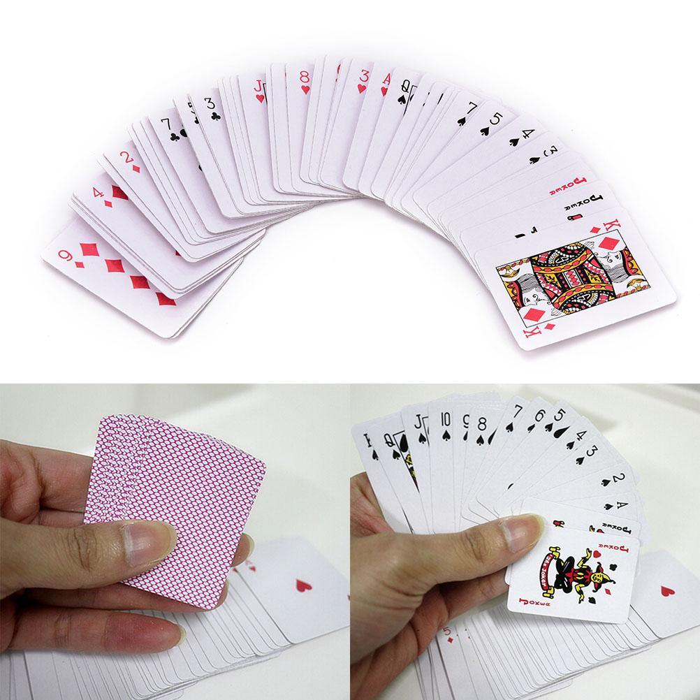 5,3 * 3,8 cm Jouer aux cartes de pokerPortable mini-poker intéressant Jeu de cartes à jouer intéressant à l'extérieur, en plein air ou en voyage