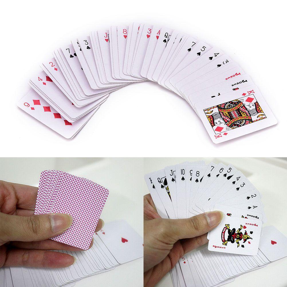 5.3 * 3.8 cm Oynama Poker KartlarıPortable Mini Küçük Poker Ilginç Oyun Kartı Kurulu Oyunu Dışında Açık veya Seyahat Pokers