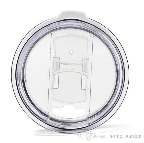 Transparente Plastikbecher Deckel Trinkgefäße Schiebedeckel Schalterabdeckung 20 30 Unzen Autos Bierkrüge Splash Spill Proof