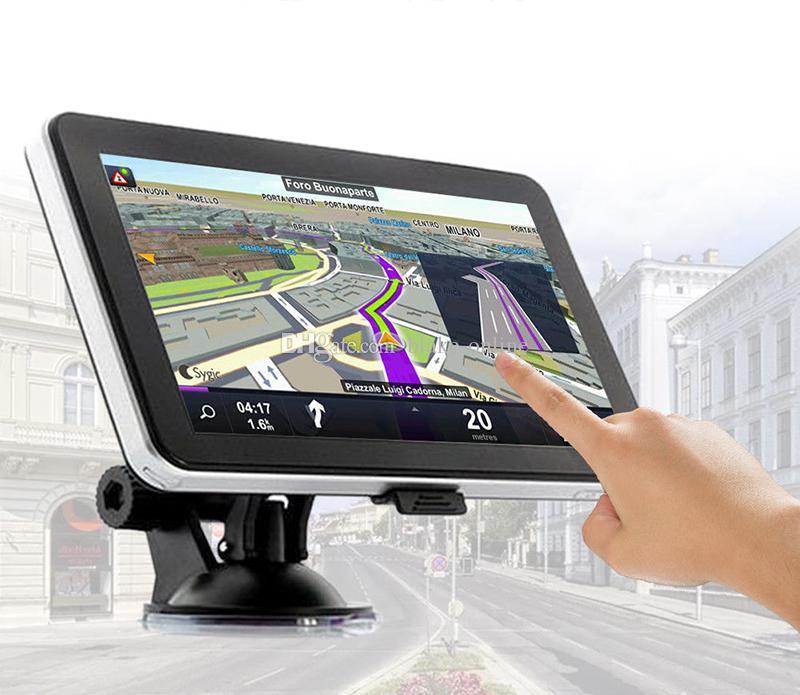 HD 7 tum Auto Car GPS Navigation Truck Navigator Avin Bluetooth Hands Gratis samtal FM-sändare Gratis 8GB 3D-kartor