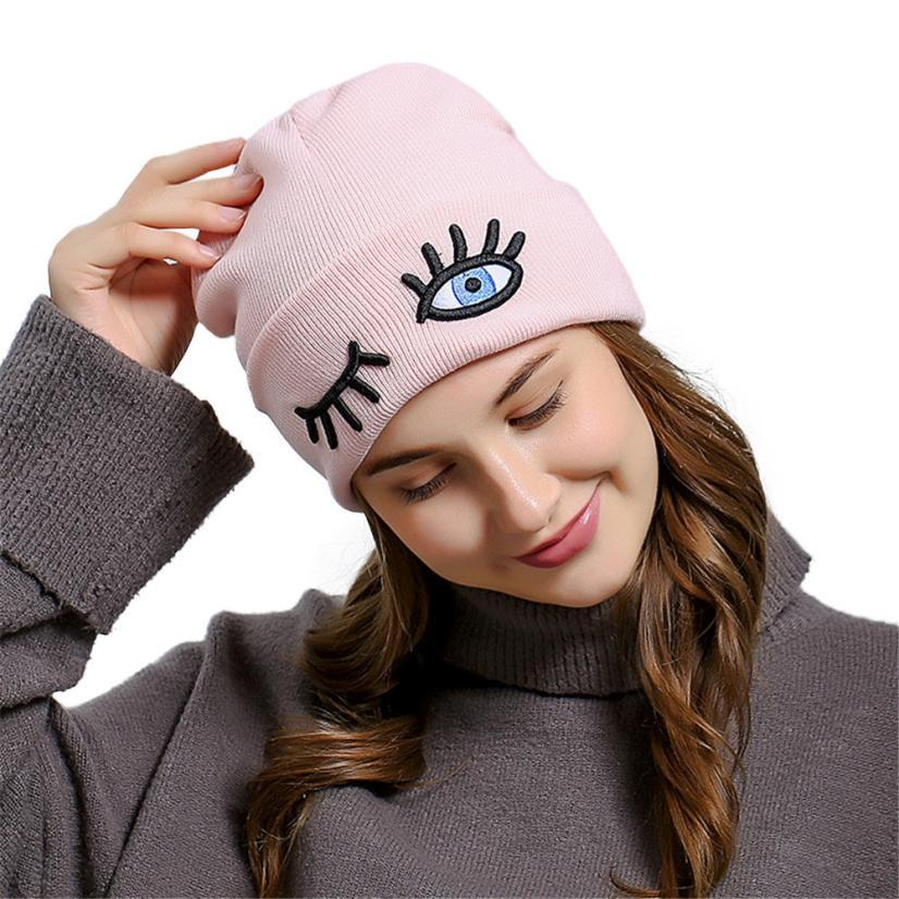 Acquista Ricamo Eye Kawaii Beanie Donna Cappelli Invernali Lana Emoji  Emotion Cappelli Creativi Chapeu Feminino   121 A  35.79 Dal Peachguo  1904cbffe236