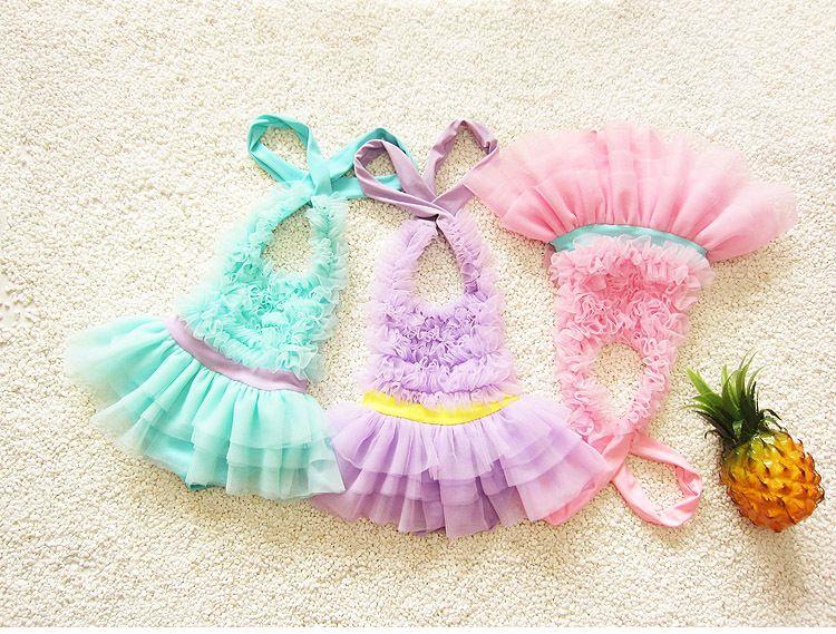 Toddler Kids Swimwear 2018 Neonate Lovely Swimsuit Girls Bambini Estate Costumi da bagno Tuta da bagno + Beautiful Sun Hat Beachwear