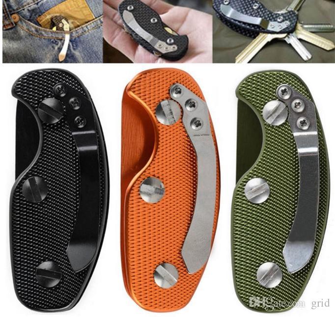 Multifuction Keychain Tools Folding Keys Organizer EDC Holder Pocket Aluminum Key Bar EDC Outdoor Survival Tool
