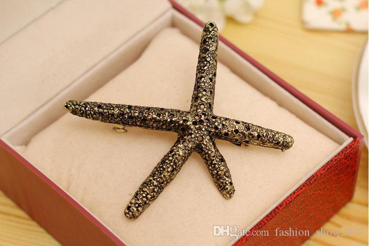 Playa de la moda Estrella de mar Tocado de metal Accesorios para el cabello Joyería de la cabeza Clip de pelo Pins Bijoux Horquilla para mujeres