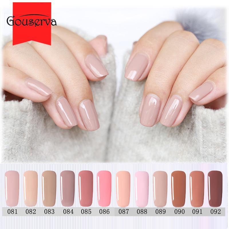 Gouserva 8ml Nude Color Gel Nail Polish Uv Gellak Lucky Hybrid ...