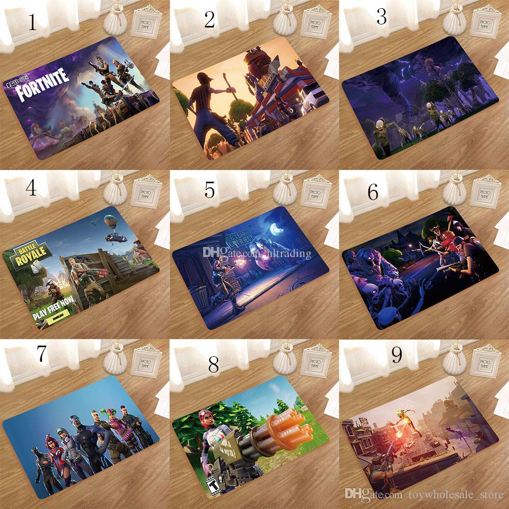 2019 Game Fortnite Non Slip Mats Cartoon Fortnite Print Home Kitchen