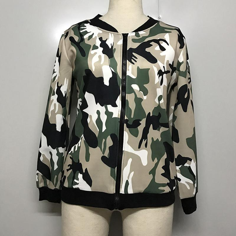 Tops Coats Jacket Women Casual Printing New Camouflage Embroidered Flight  Suit Ladies Jackets Black Jacket From Topcoat 0b8ece4a2