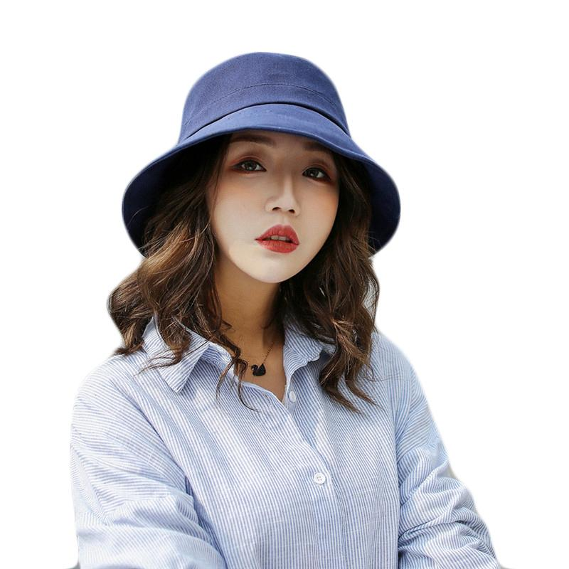 d2766da2f58 Hot Sale Solid Colors Bucket Hats For Women Men Panama Bucket Cap Women  Outdoor Leisure Fisherman Hat Breathable Couple Sun Hats Boonie Hat Fedoras  From ...