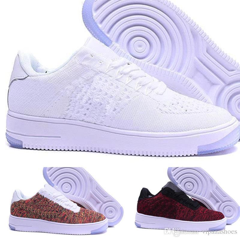 separation shoes 3f3d2 4acc4 Nike Air Force Oen 1 Flyknit One Af1 Flyknit Nuevo Diseño 2018 Nueva Línea  De La Mosca Del Estilo Hombres Mujeres High Low Lover Zapatillas De Skate 1  One ...