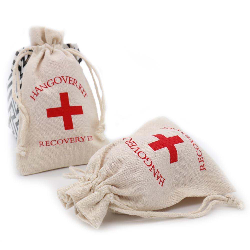 Hangover Kit Bags Bachelorette Party Supplies 10*14cm Cotton Gift ...