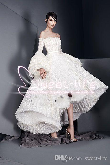 Ruffles Dantel Etek 2018 Abiye Elbiseler Mütevazı Çan Kollu Kapalı Omuz Ashi Stüdyo Prenses Pageant Balo Pageant Törenlerinde Parti Elbiseler