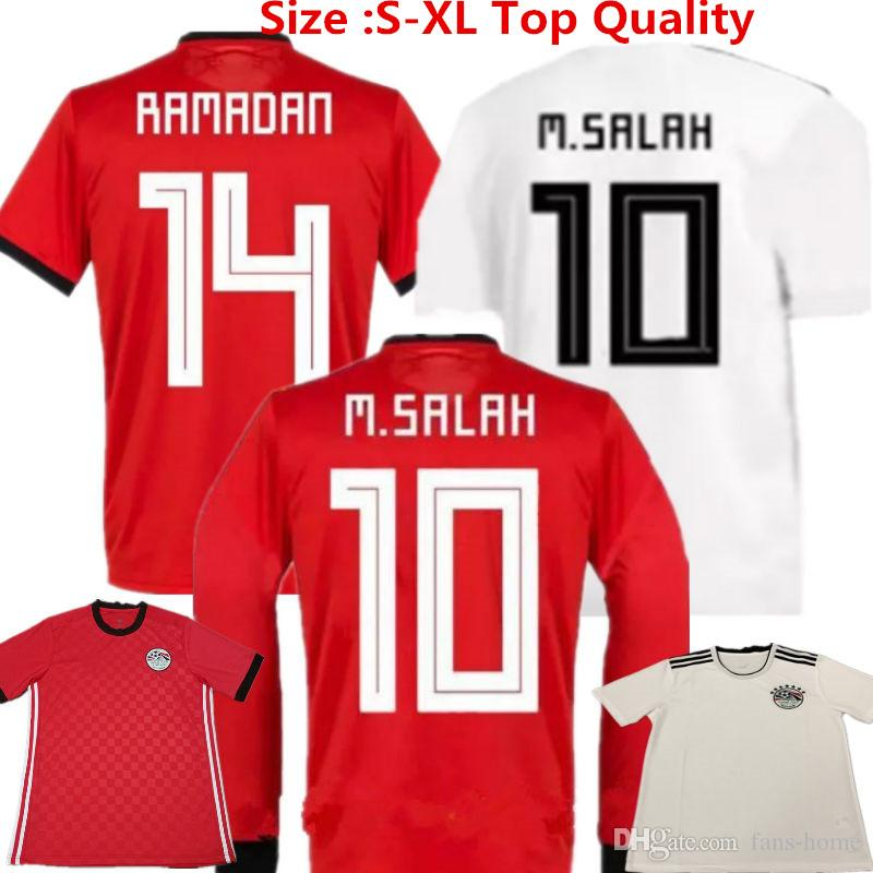 98b93beb8b0 2019 2018 Egypt Soccer Jerseys M.SALAH Home Red Football Shirts RAMADAN M.ELNENY  Egypt Away World Cup National Team Uniforms Long Sleeve From Fans Home