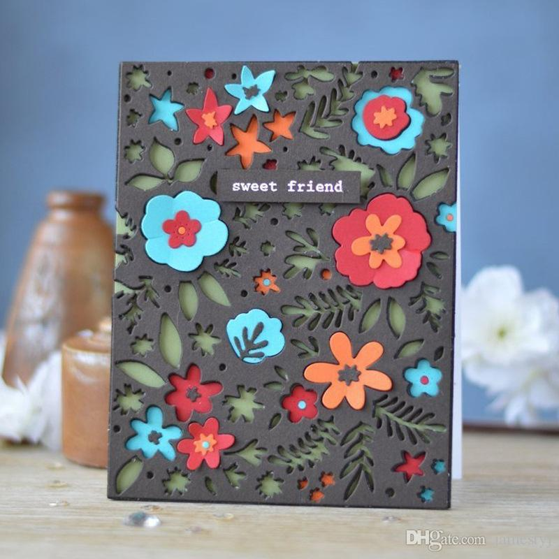 Flower Cutting Dies 3d Photograph Album For Cards Stencil Scrapbooking And Paper Crafts Handmade Embossing Folder Diy Paper Craft Machines