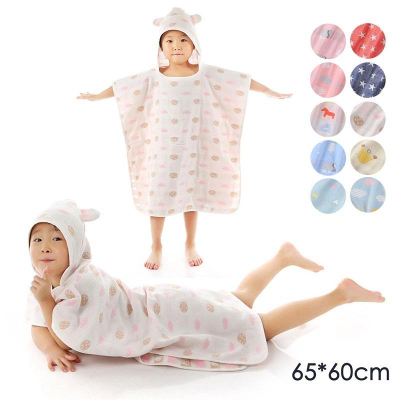 cdce09b5de Stars Printed Baby Bath Towel Child Kids Boys Baby Girl Hooded ...