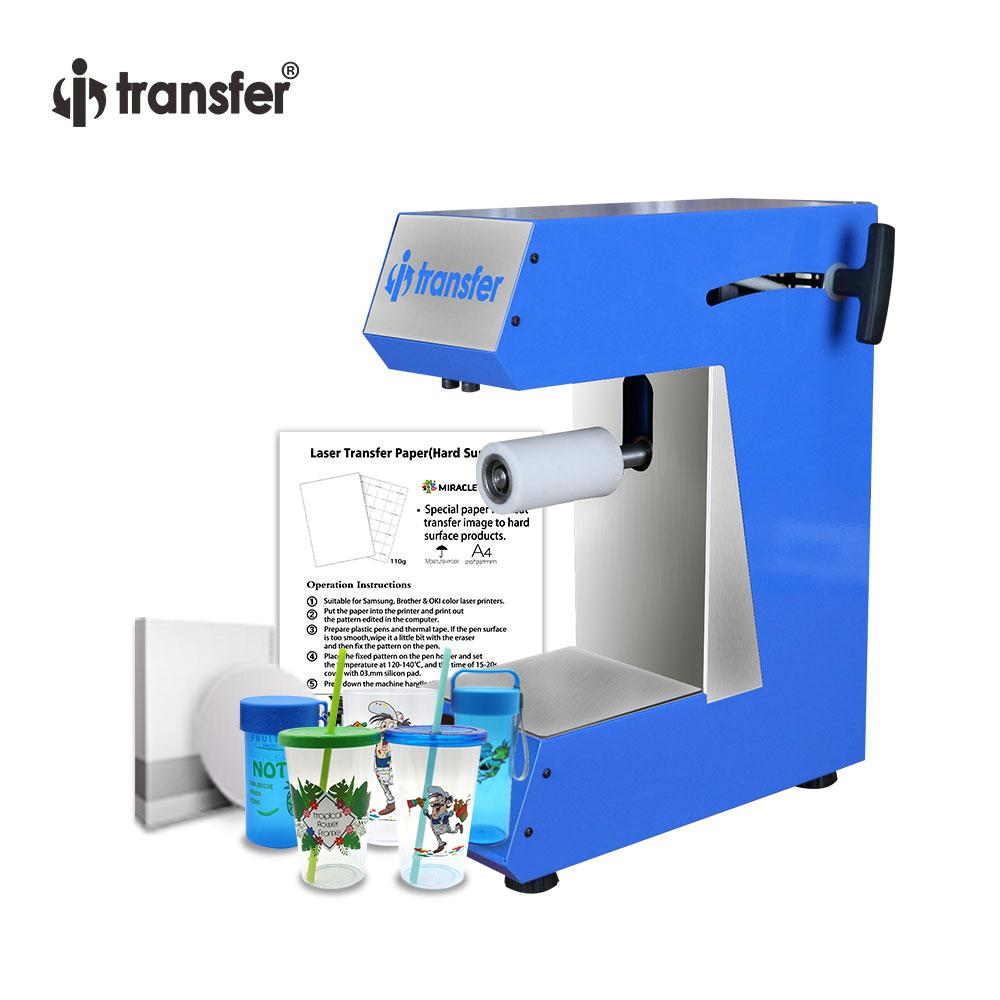 i-transfer Package Sale Multi-function Roller Plastic Mugs,Paper Gift Box  Heat Press Transfer Sublimation Machine Printer HPM37