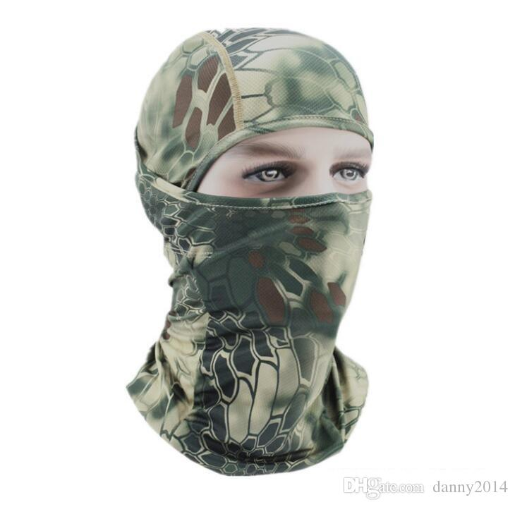 Chief Airsoft sports Balaclava tactique Chasse au camouflage Paintball Protection complète du visage Masque de camping en plein air Anti UV masques d'été
