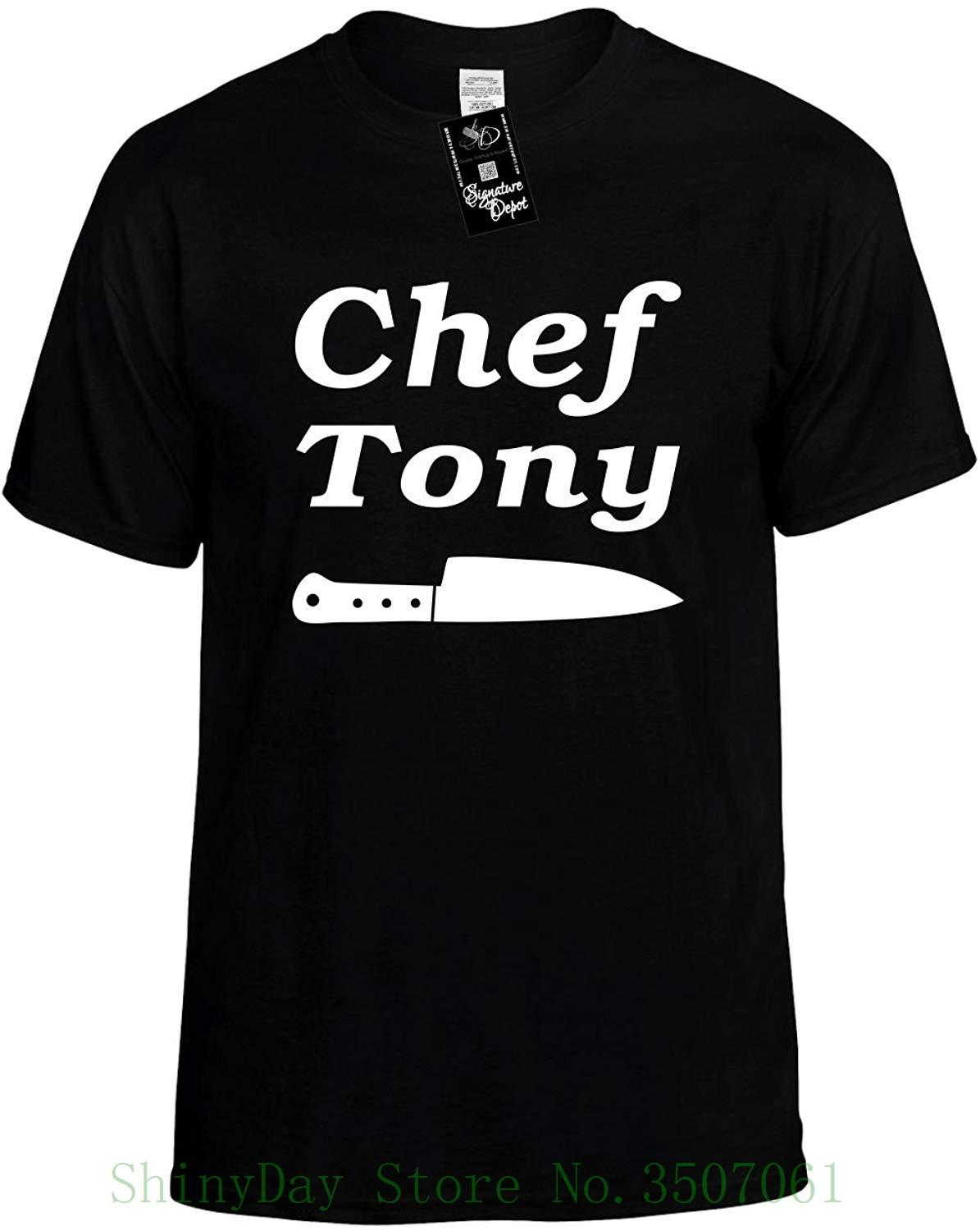 5d8418cf3 Mens Funny T Shirt Chef Tony With Knife Food Cook Unisex Tee Cotton Low  Price Top Tee For Teen Girls Funny Printed Shirts Cool Tee Shirts Designs  From ...
