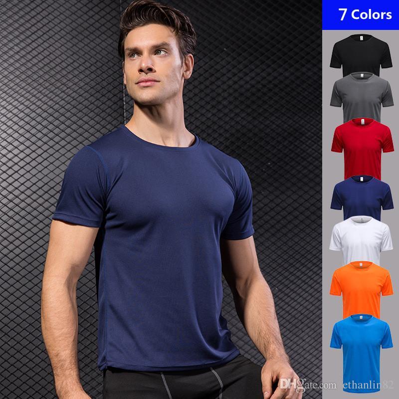 ce8c545e34 2018 Summer Mens Tshirt Running Shirt Loose Blouse Gym Sportswear ...