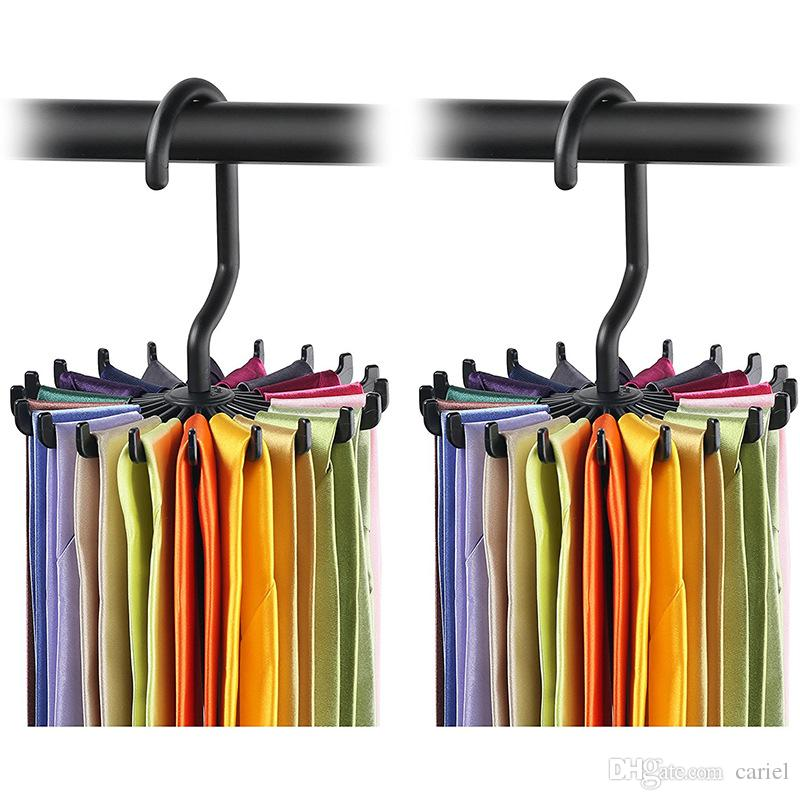Rotating Tie Rack Organizer Hanger Closet Organizer Hanging Storage Scarf  Rack Tie Rack Holds 20 Neck Ties Hook Wn333 Online With $0.93/Piece On  Carielu0027s ...