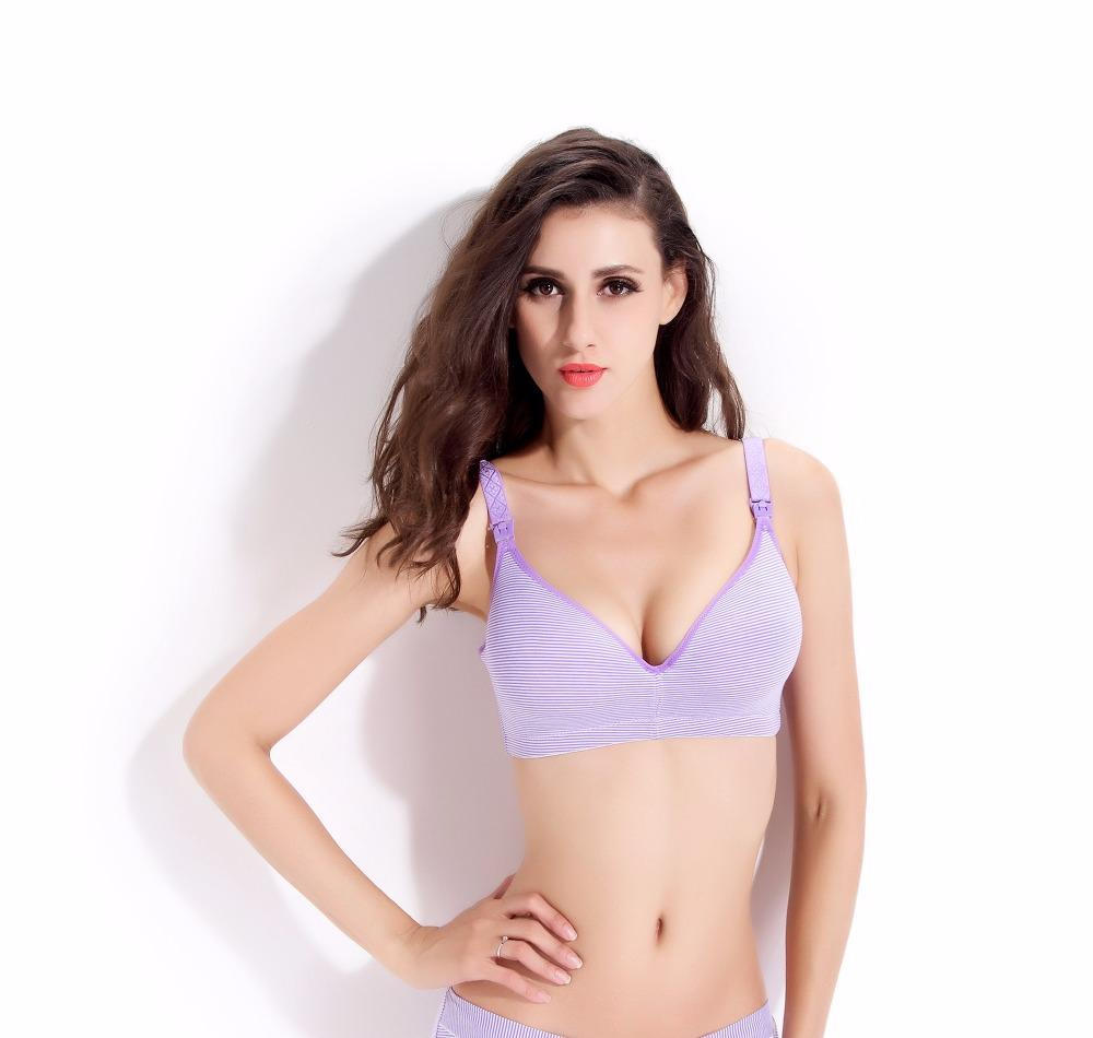 3a102ed13c4f8 2019 3 4 Cup Cotton Nursing Bra For Pregnant Women Breastfeeding Safe Mom S  Underwear High Quality Soft Breathable Pregnancy Bra From Jamani3