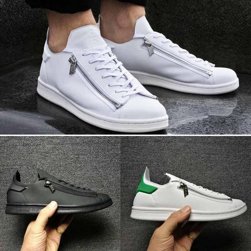 f17f5ea23 ... y-3 stan smith black New Y 3 Zip Casual Shoes ...