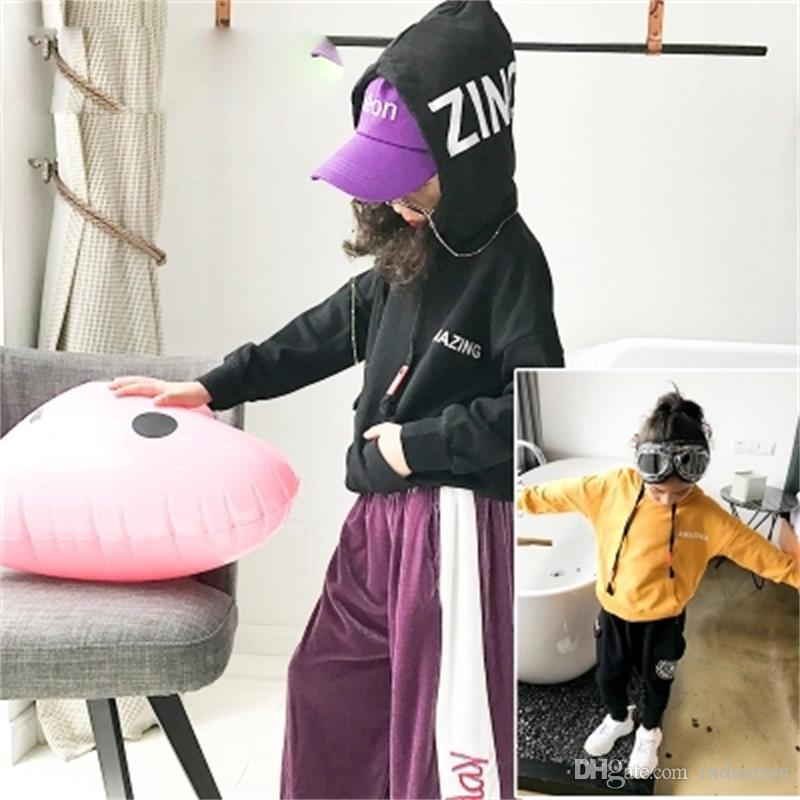 1a2ccc7cd 2019 Girls  Sweater 2018 Autumn New Big Children S Children S Hooded ...