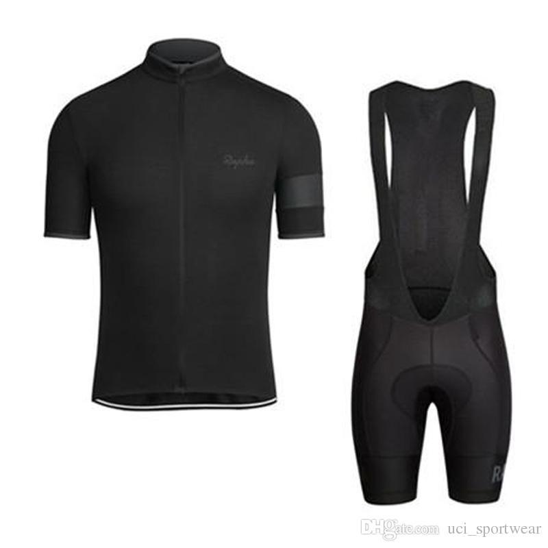 RAPHA Sommer Herren Kurzarm Radtrikot Bike Wear Kleidung Lätzchen SET MTB Uniform PRO Radsportbekleidung Fahrrad Maillot Culotte Anzug
