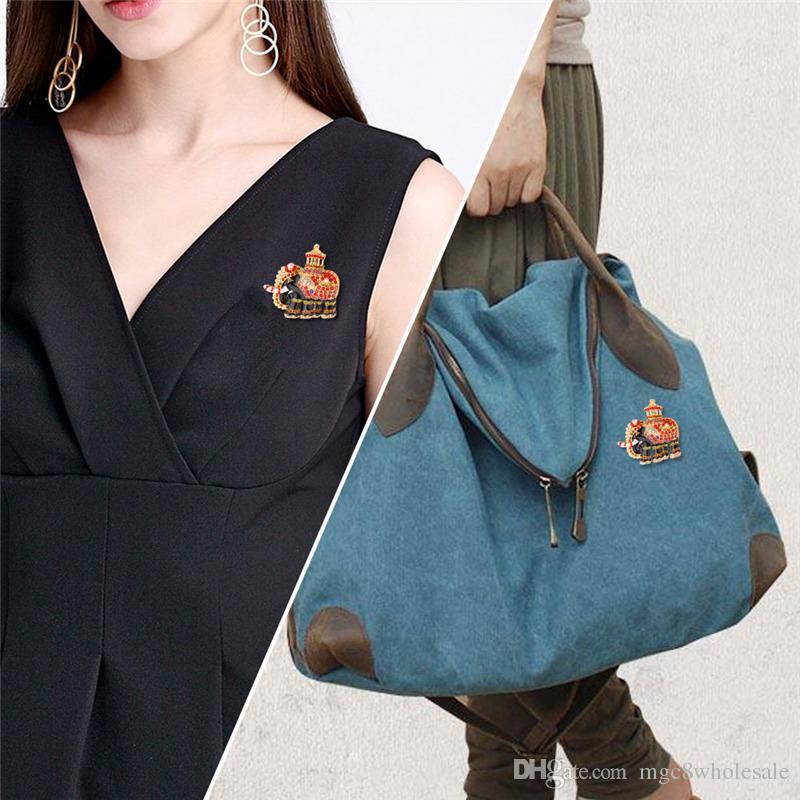 U7 Women's Brooch/Pin Thailand Elephant Design Luxury Austrian Rhinestone Animal Brooch For Collar Coat Decoration Accessory B2712