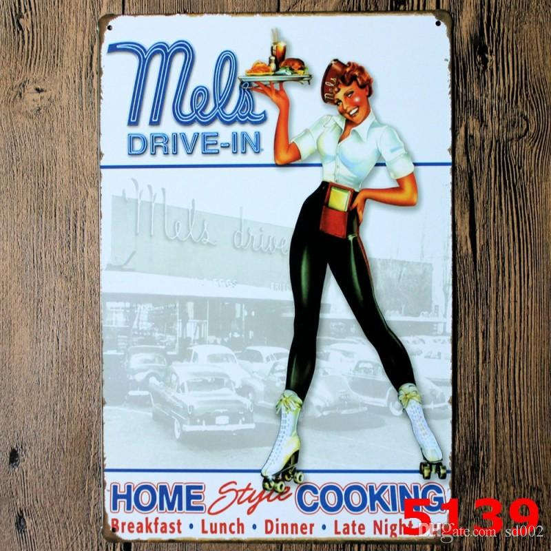 Rectangle 20*30cm Tin Sign Todays Menu I Used To Drink Iron Paintings Clean House Beautiful Woman Tin Poster Modern 3 99ljg B