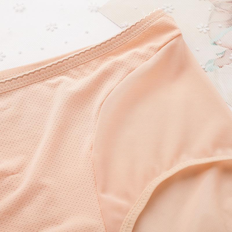 Women' Cotton Briefs Hollow Out High Waist Panties Sexy Transparent Lace Female Underpants Seamless Panty Women Underwear