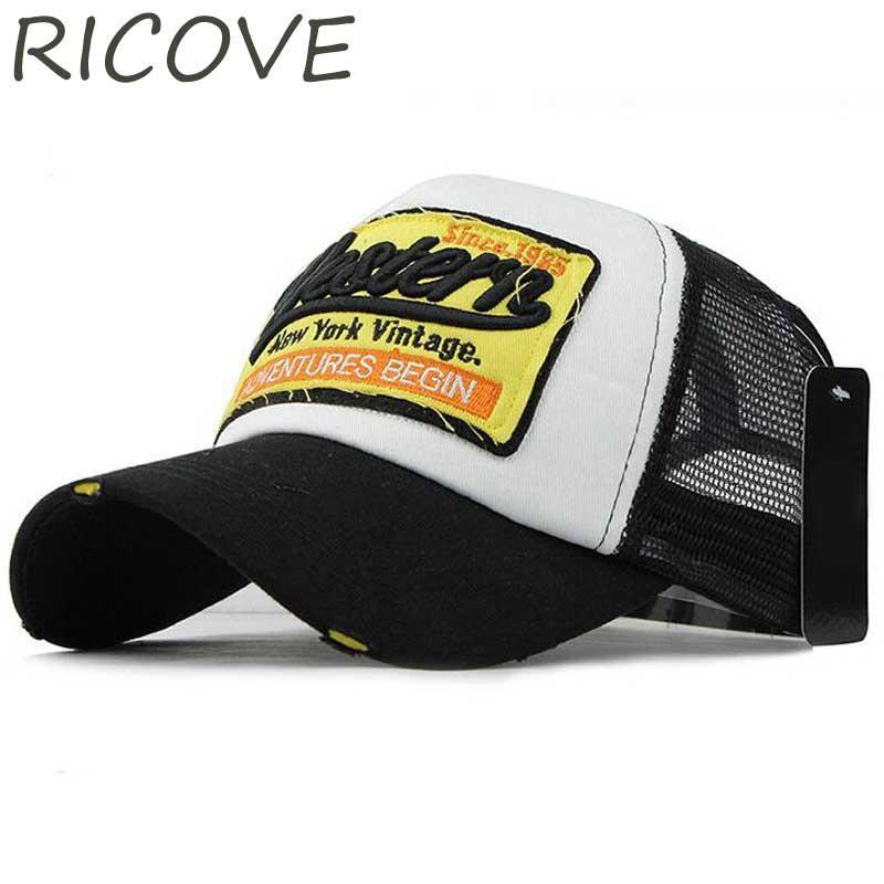 c6f53a949a7 Snapback Trucker Cap Men Hip Hop Baseball Caps Dad Hat Western Mesh ...