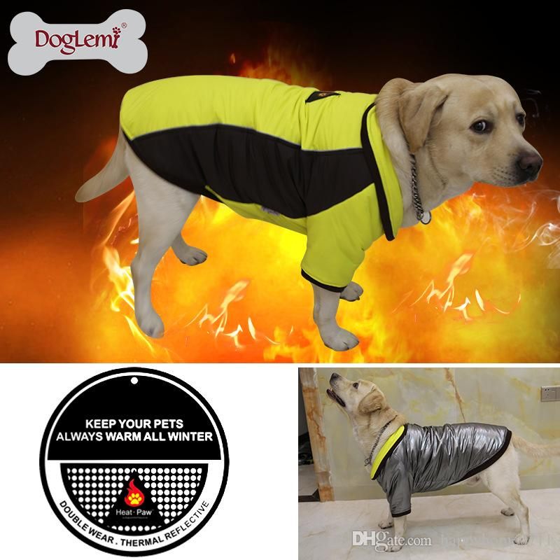 2018 High Technology Heat Reflective Dog Coat Outdoor Waterproof Warm Pet Clothes Reversible dog coat warm pet jacket
