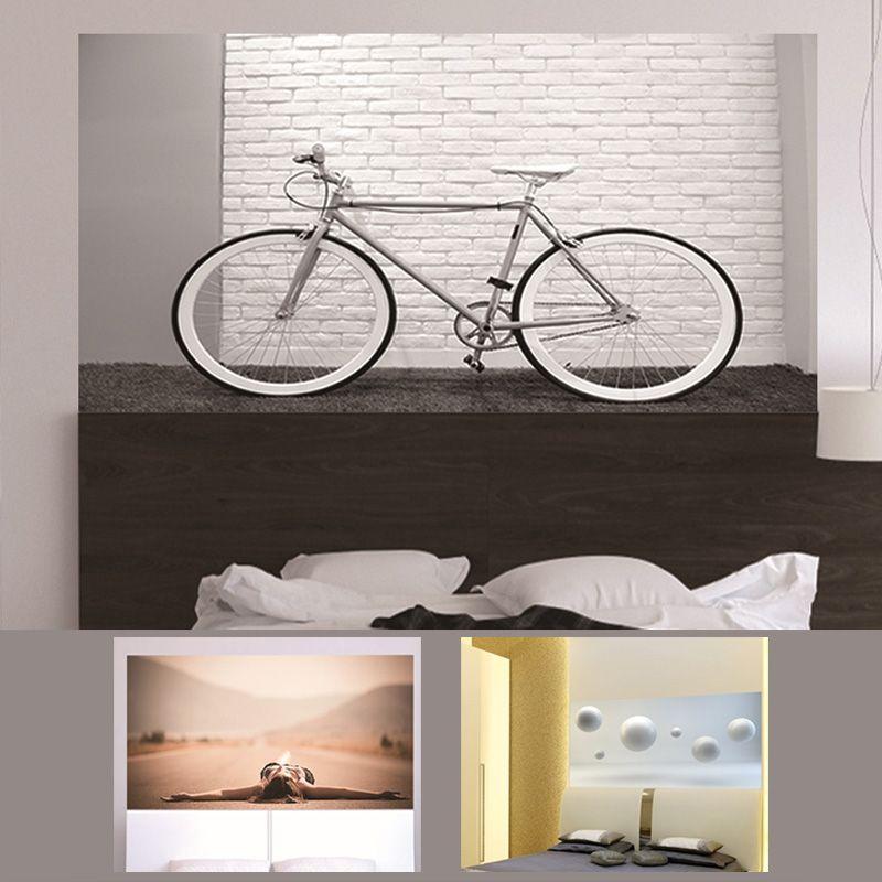3d headboard sticker floating ball bike road girl bedroom sofa